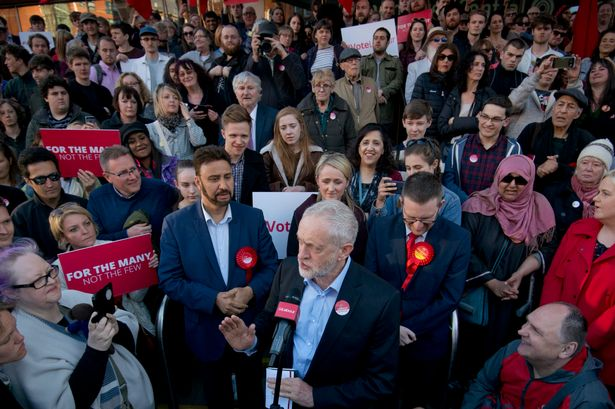Jeremy Corbyn at the vigil following the Manchester atrocity.